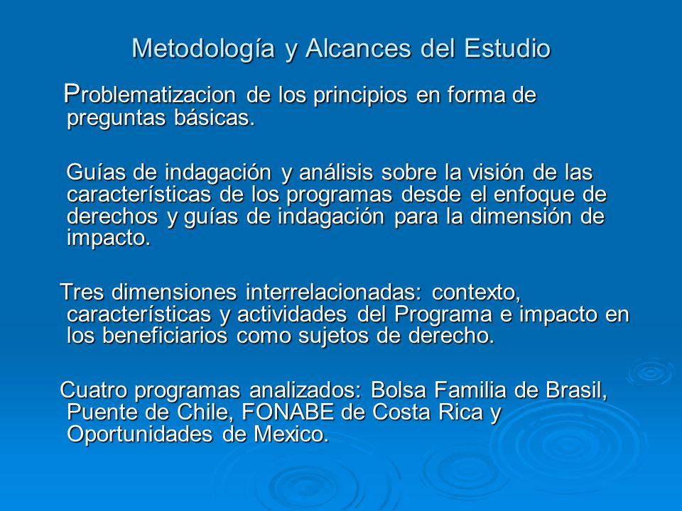 Metodología y Alcances del Estudio P roblematizacion de los principios en forma de preguntas básicas.