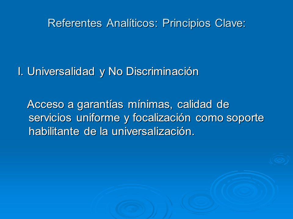 Referentes Analíticos: Principios Clave: I.