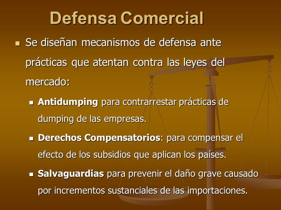 Defensa Comercial Se diseñan mecanismos de defensa ante prácticas que atentan contra las leyes del mercado: Se diseñan mecanismos de defensa ante prác