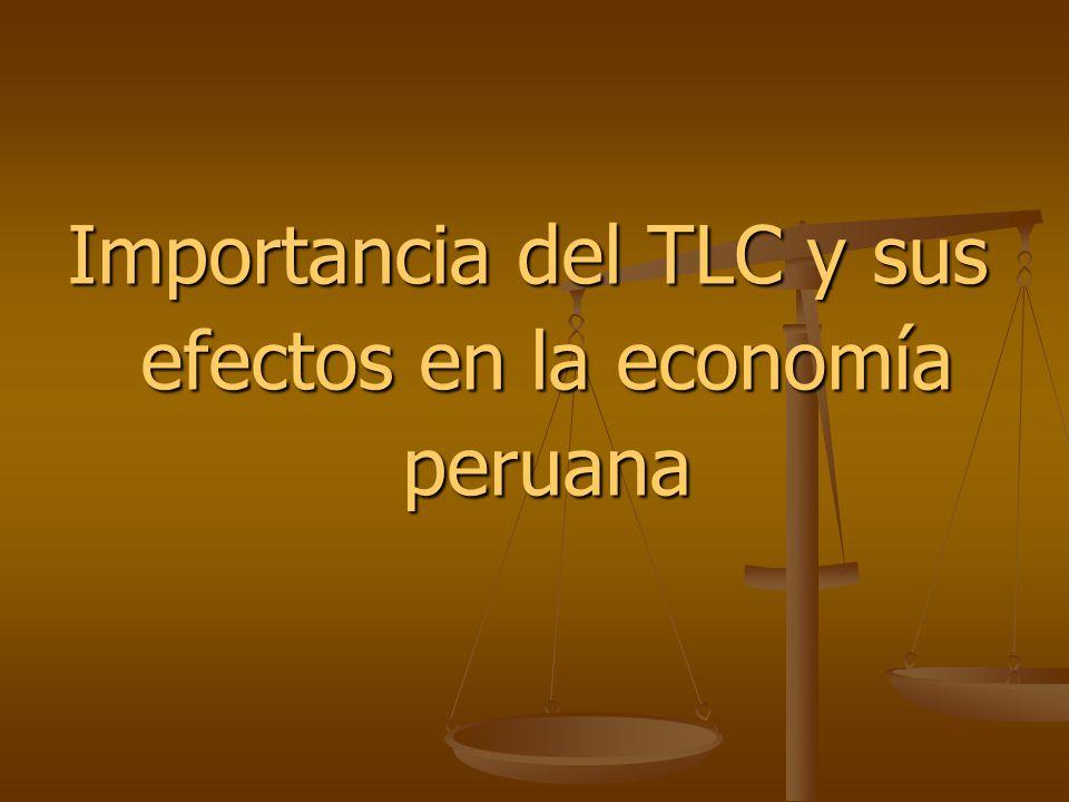 Importancia del TLC y sus efectos en la economía peruana