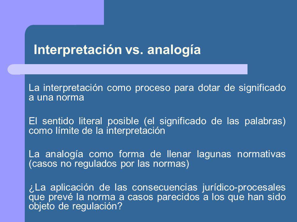Interpretación vs.