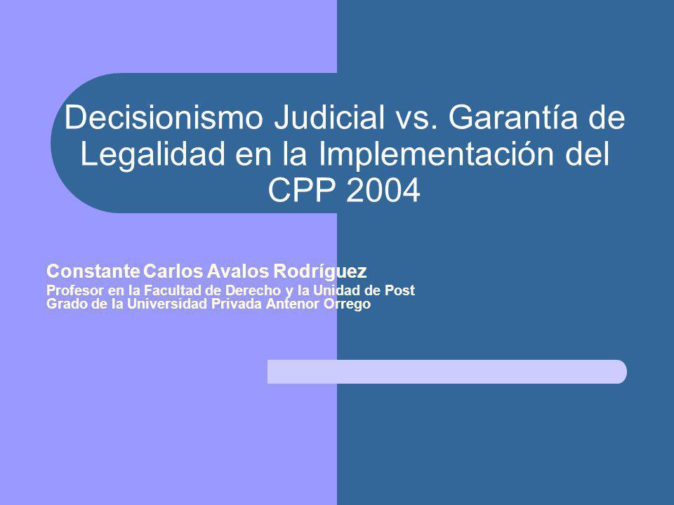 Decisionismo Judicial vs.