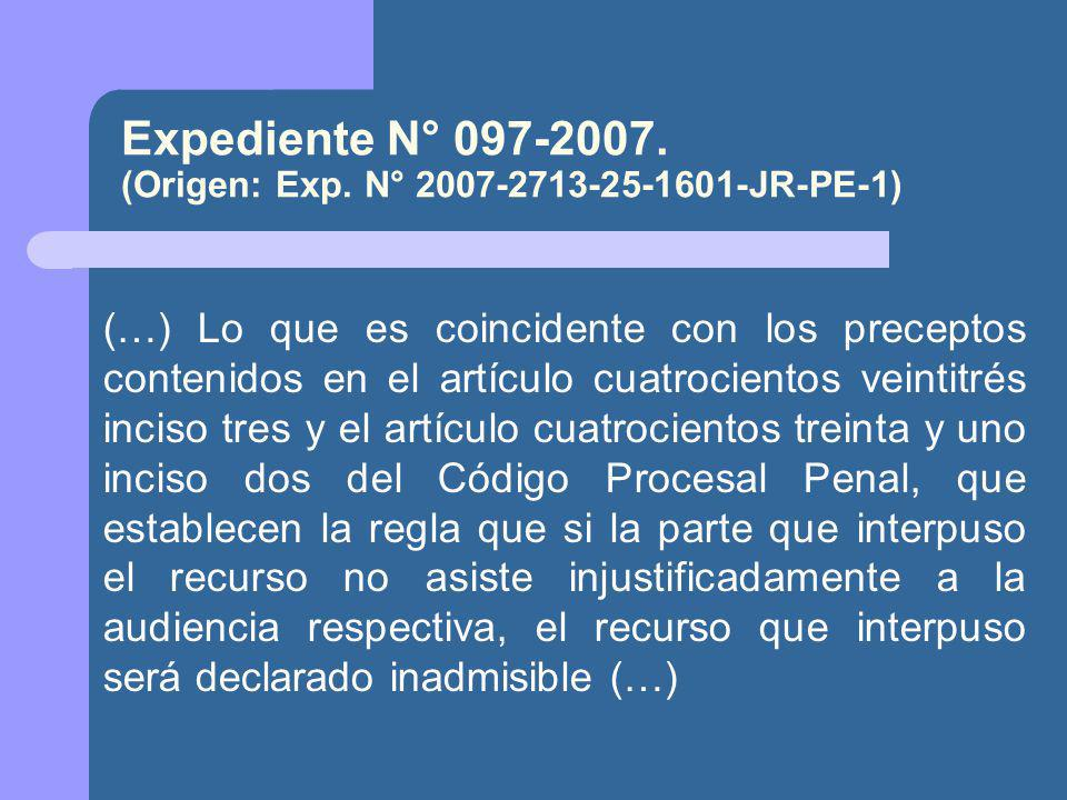 Expediente N° 097-2007.(Origen: Exp.
