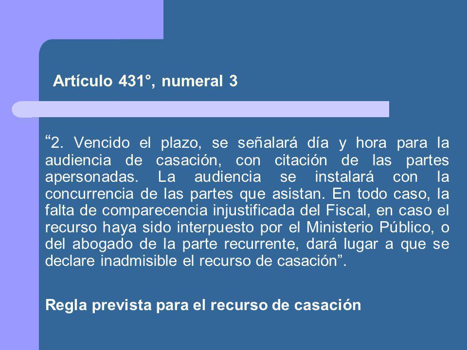 Artículo 431°, numeral 3 2.