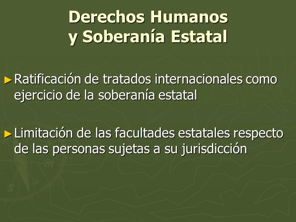 Derechos Humanos y Soberanía Estatal Ratificación de tratados internacionales como ejercicio de la soberanía estatal Ratificación de tratados internac