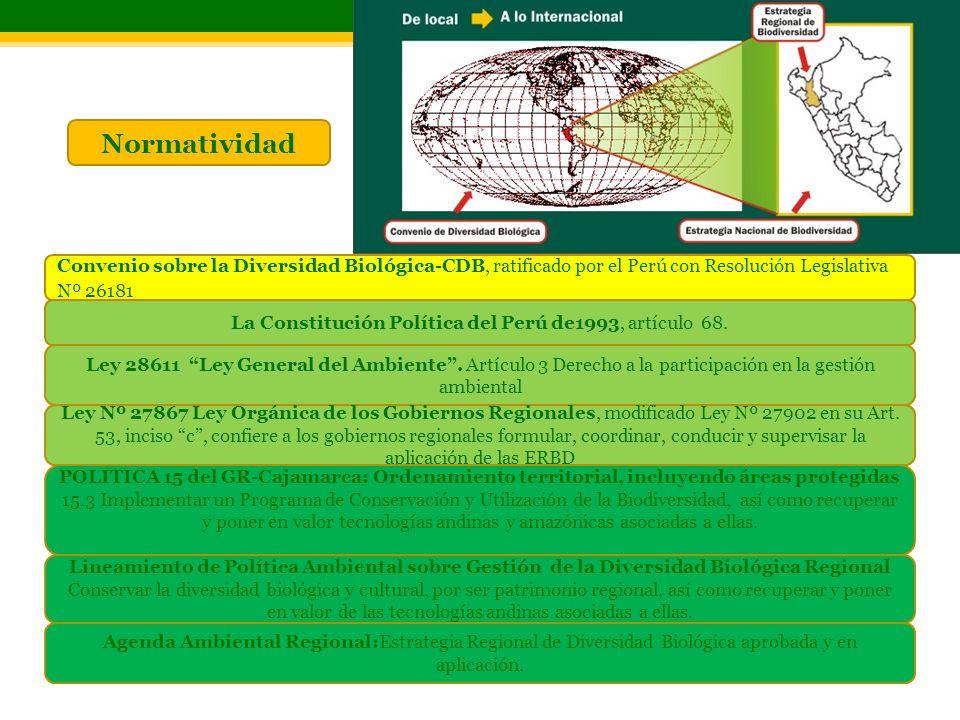 Convenio sobre la Diversidad Biológica-CDB, ratificado por el Perú con Resolución Legislativa Nº 26181 Ley 28611 Ley General del Ambiente. Artículo 3