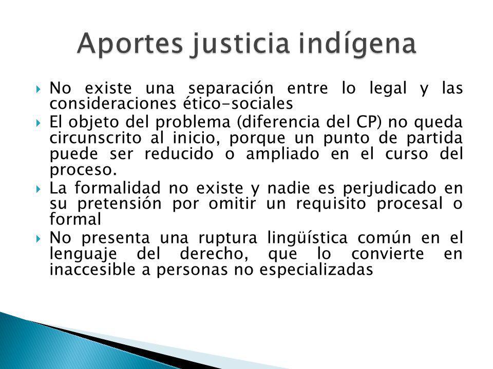 No existe una separación entre lo legal y las consideraciones ético-sociales El objeto del problema (diferencia del CP) no queda circunscrito al inici