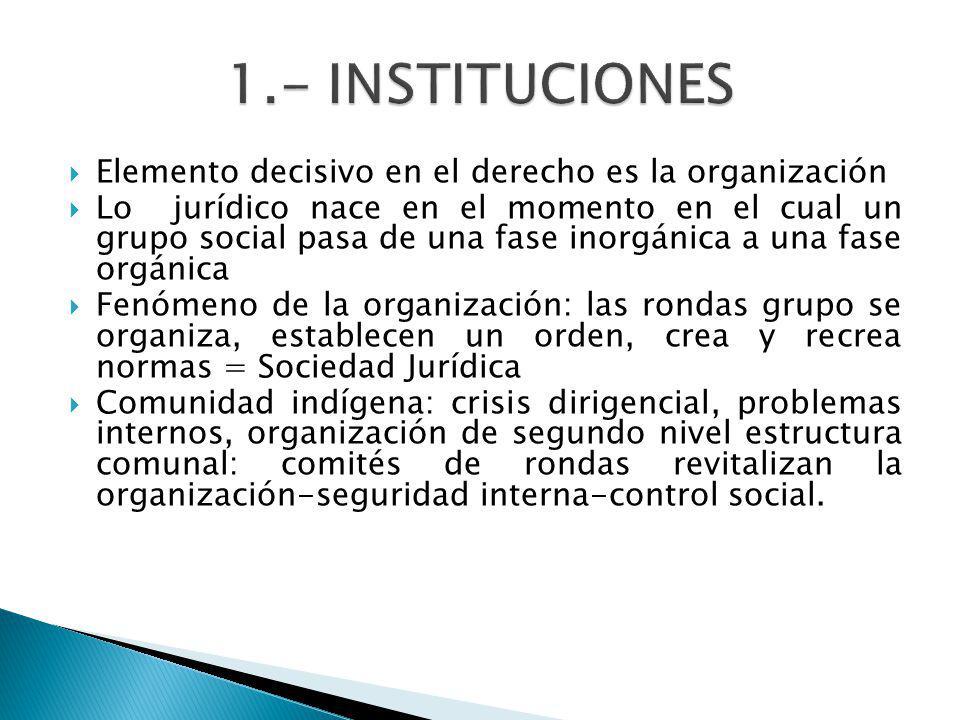 Elemento decisivo en el derecho es la organización Lo jurídico nace en el momento en el cual un grupo social pasa de una fase inorgánica a una fase or