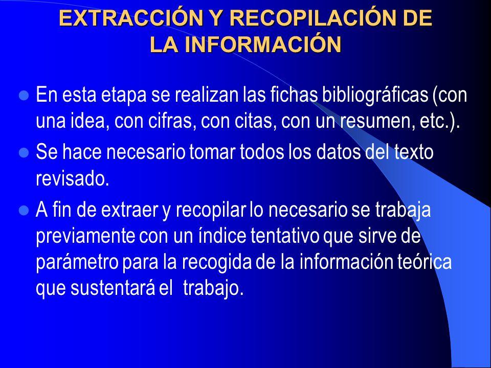 CONSTRUCCIÓN DEL MARCO TEÓRICO Recopilado los datos de las distintas fuentes, es necesario que el marco teórico se integre con las teoría, estudios y antecedentes en general que tengan relación con el problema a investigar.