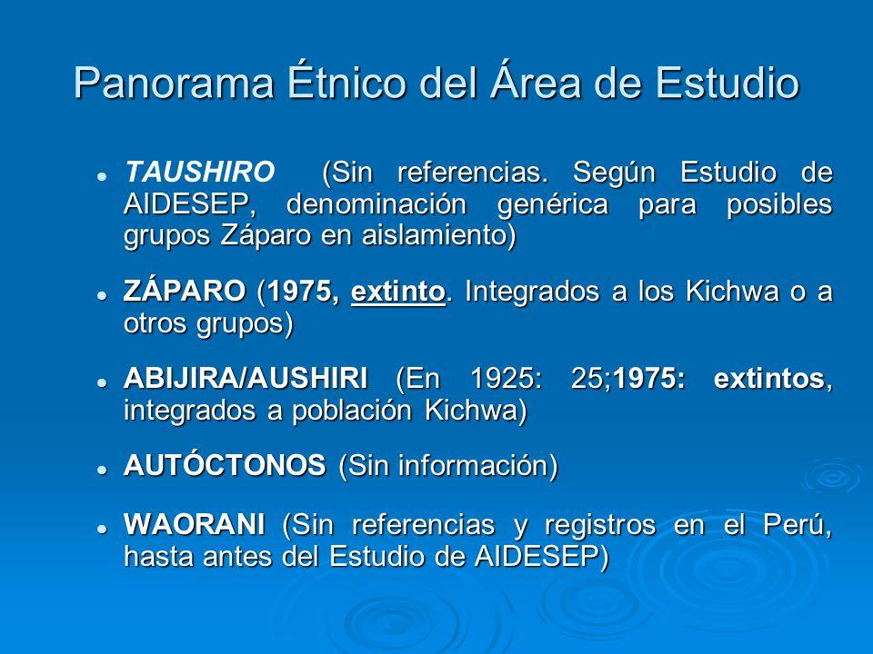 Panorama Étnico del Área de Estudio (Sin referencias.