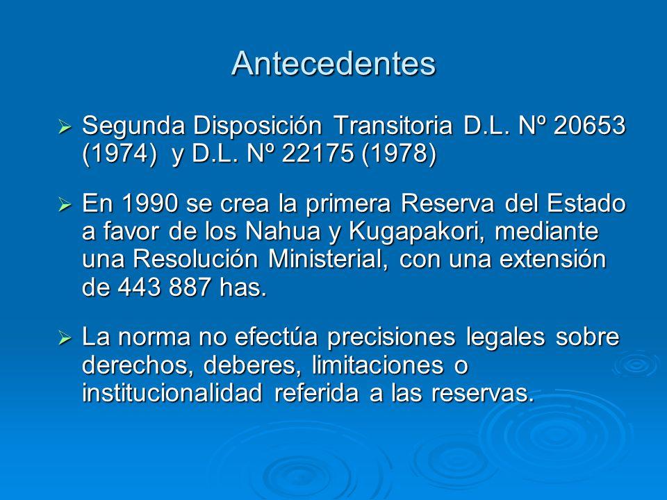 Antecedentes Mediante D.S.