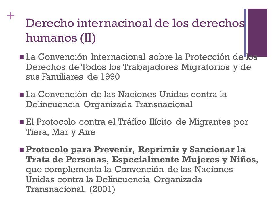 + Derecho internacinoal de los derechos humanos (II) La Convención Internacional sobre la Protección de los Derechos de Todos los Trabajadores Migrato