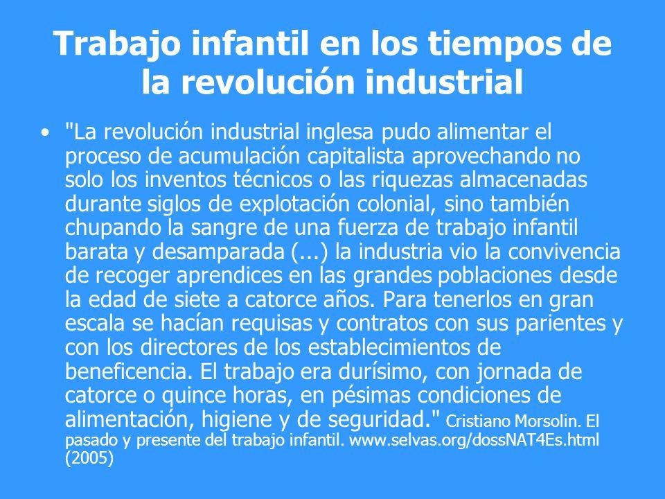 Trabajo infantil en los tiempos de la revolución industrial