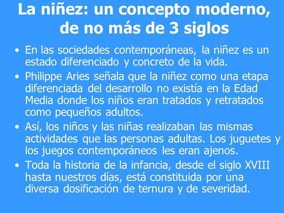 La niñez: un concepto moderno, de no más de 3 siglos En las sociedades contemporáneas, la niñez es un estado diferenciado y concreto de la vida. Phili