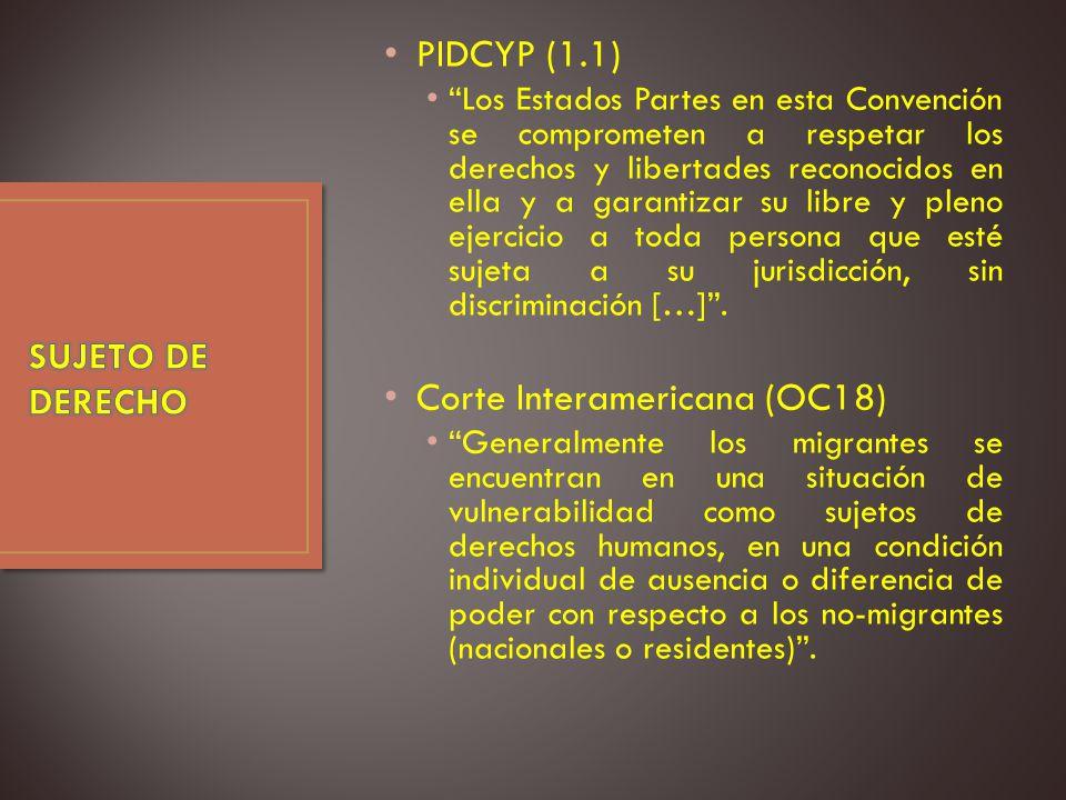 PIDCYP (1.1) Los Estados Partes en esta Convención se comprometen a respetar los derechos y libertades reconocidos en ella y a garantizar su libre y pleno ejercicio a toda persona que esté sujeta a su jurisdicción, sin discriminación […].