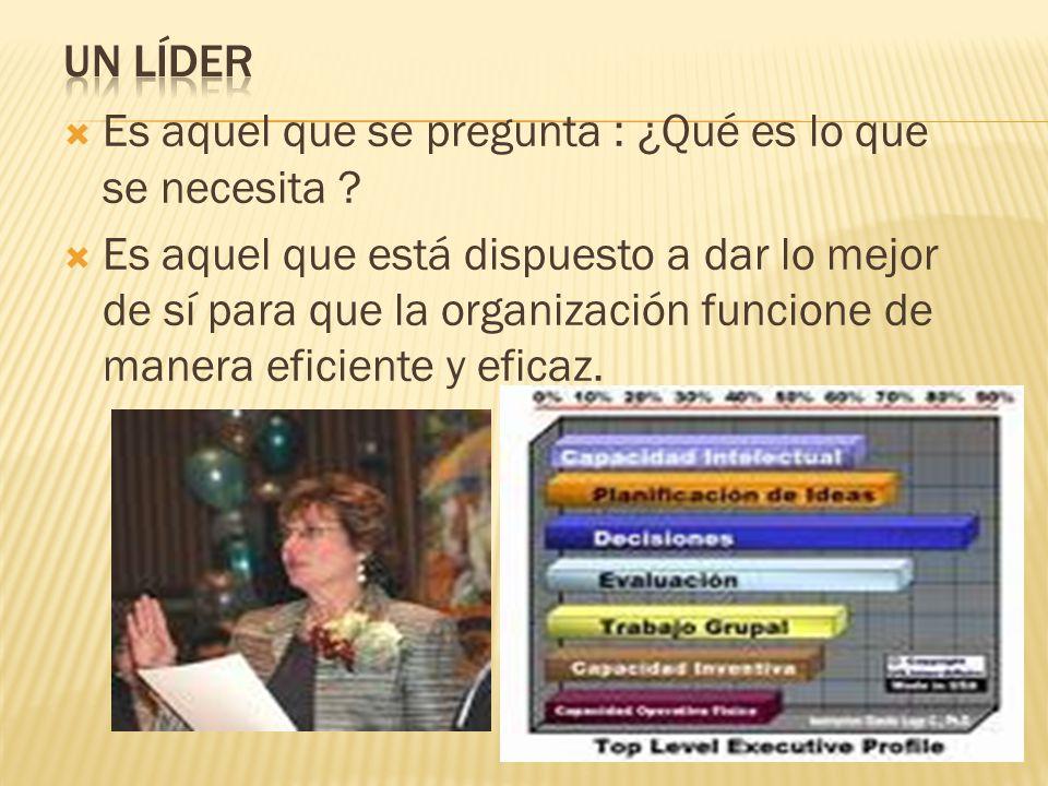 Líder del futuro : Animador, impulsor, no crítico facilitador.