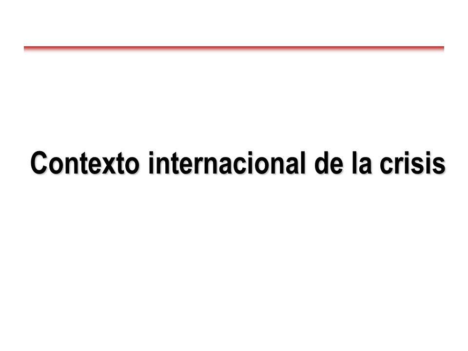 Contexto internacional de la crisis