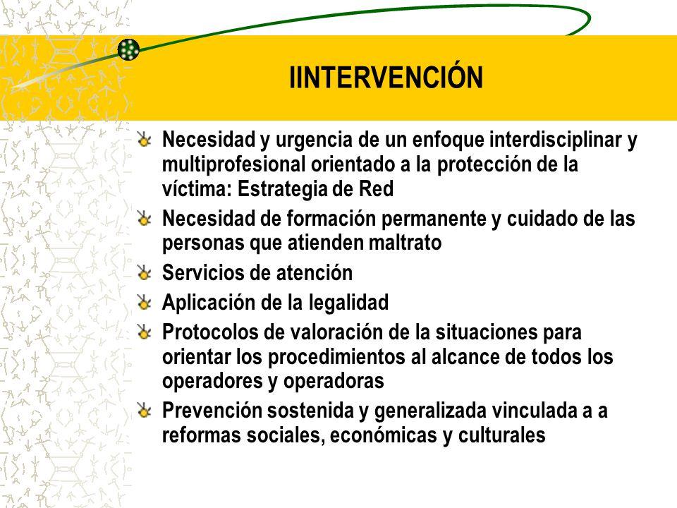 IINTERVENCIÓN Necesidad y urgencia de un enfoque interdisciplinar y multiprofesional orientado a la protección de la víctima: Estrategia de Red Necesi