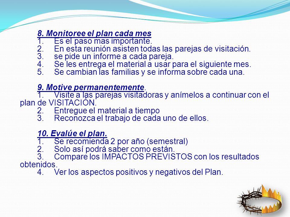 8.Monitoree el plan cada mes 1.Es el paso mas importante.