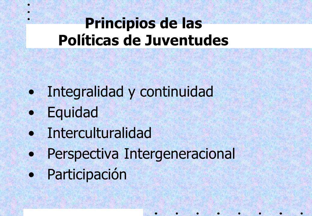 ¿Por qué una nueva formulación de lineamientos de políticas de juventud? 1.Existencia de un nuevo marco legal e institucional –Acuerdo Nacional –Ley d