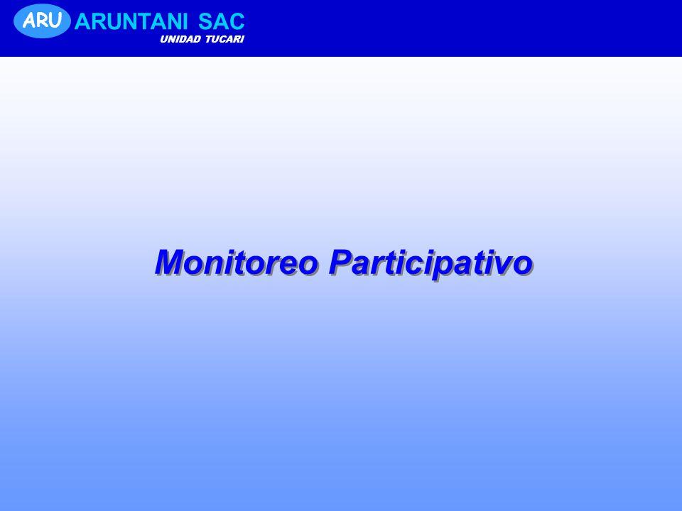 ARU ARUNTANI SAC UNIDAD TUCARI Monitoreo Participativo