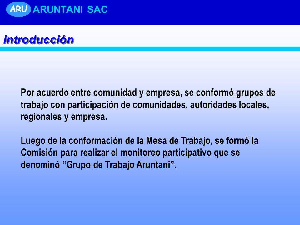 Por acuerdo entre comunidad y empresa, se conformó grupos de trabajo con participación de comunidades, autoridades locales, regionales y empresa.