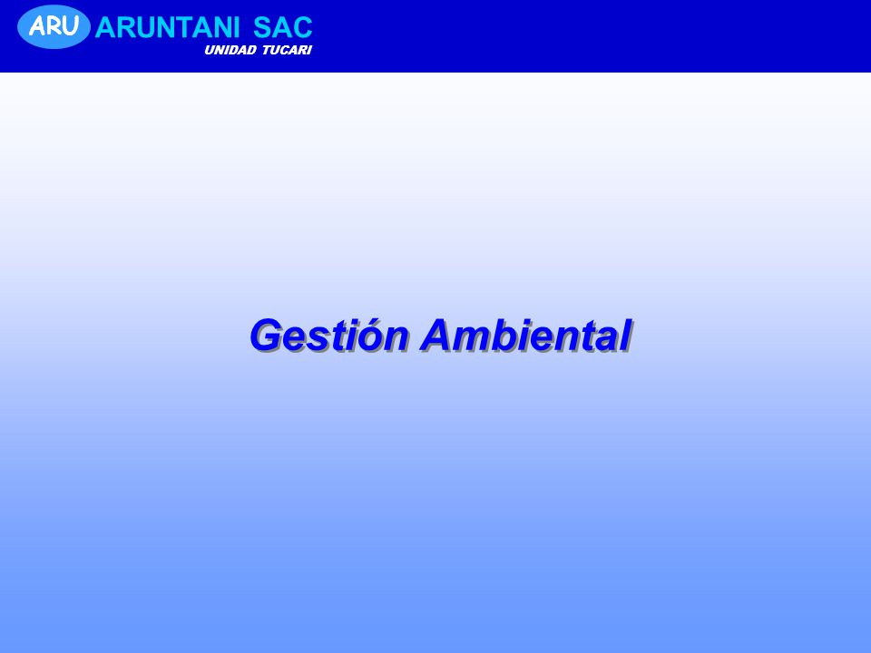 Partículas Totales en Suspensión, PTS Resultados Calidad de Aire Resultados Calidad de Aire ARU ARUNTANI SAC