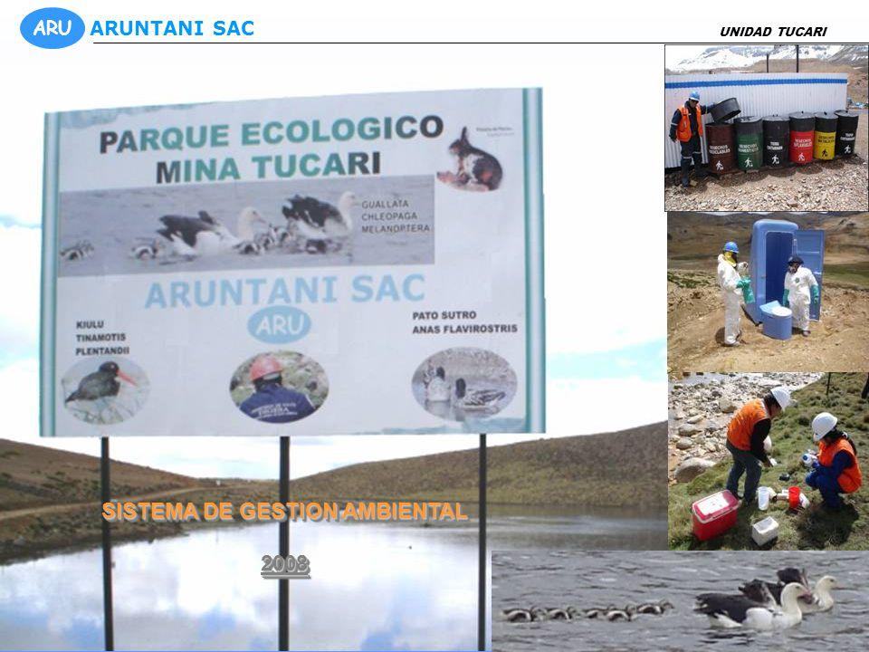 SISTEMA DE GESTION AMBIENTAL 2008 2008 UNIDAD TUCARI ARU ARUNTANI SAC