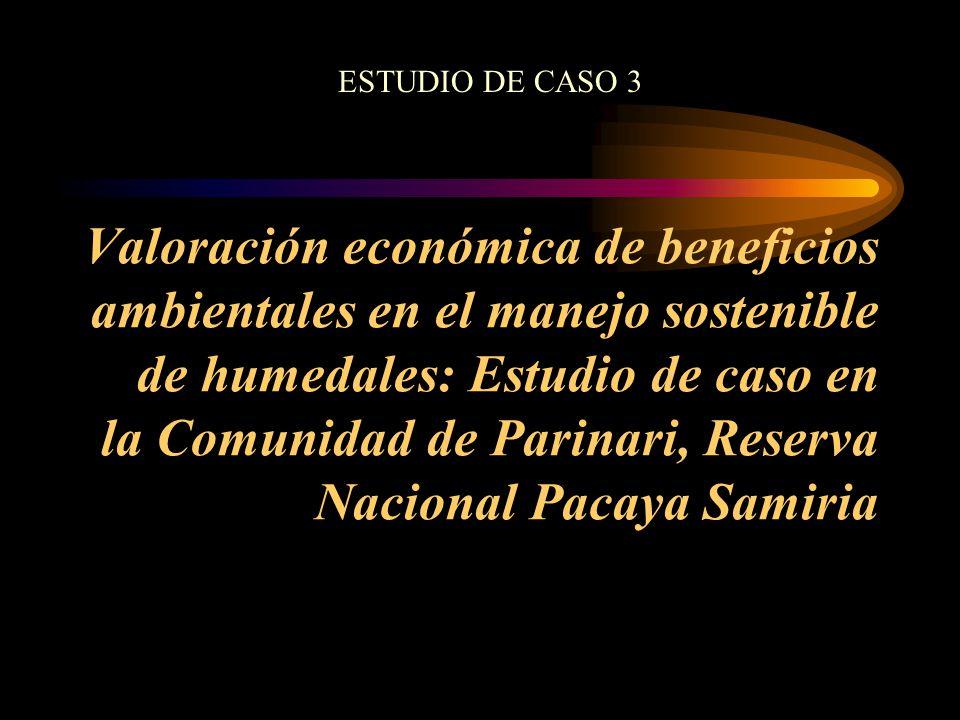 Valoración económica de beneficios ambientales en el manejo sostenible de humedales: Estudio de caso en la Comunidad de Parinari, Reserva Nacional Pac
