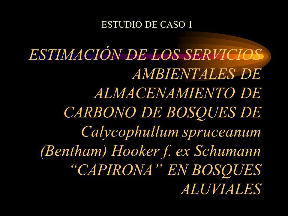 ESTIMACIÓN DE LOS SERVICIOS AMBIENTALES DE ALMACENAMIENTO DE CARBONO DE BOSQUES DE Calycophullum spruceanum (Bentham) Hooker f. ex Schumann CAPIRONA E
