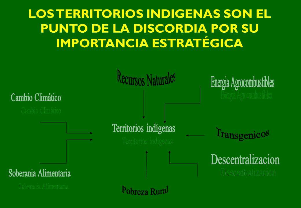 LOS TERRITORIOS INDIGENAS SON EL PUNTO DE LA DISCORDIA POR SU IMPORTANCIA ESTRATÉGICA