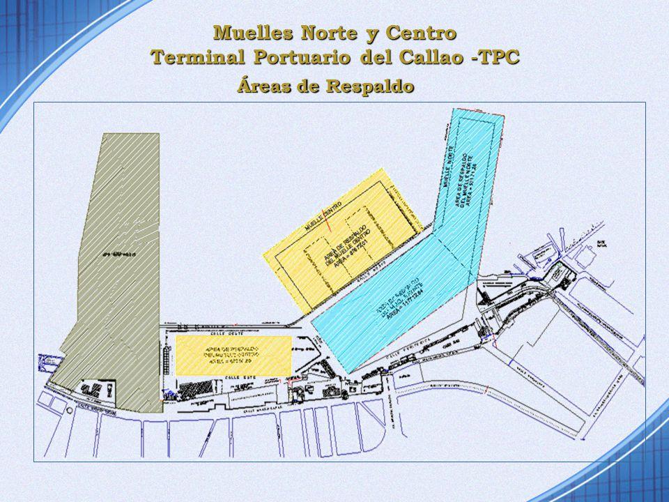 Muelles Norte y Centro Terminal Portuario del Callao -TPC Áreas de Respaldo