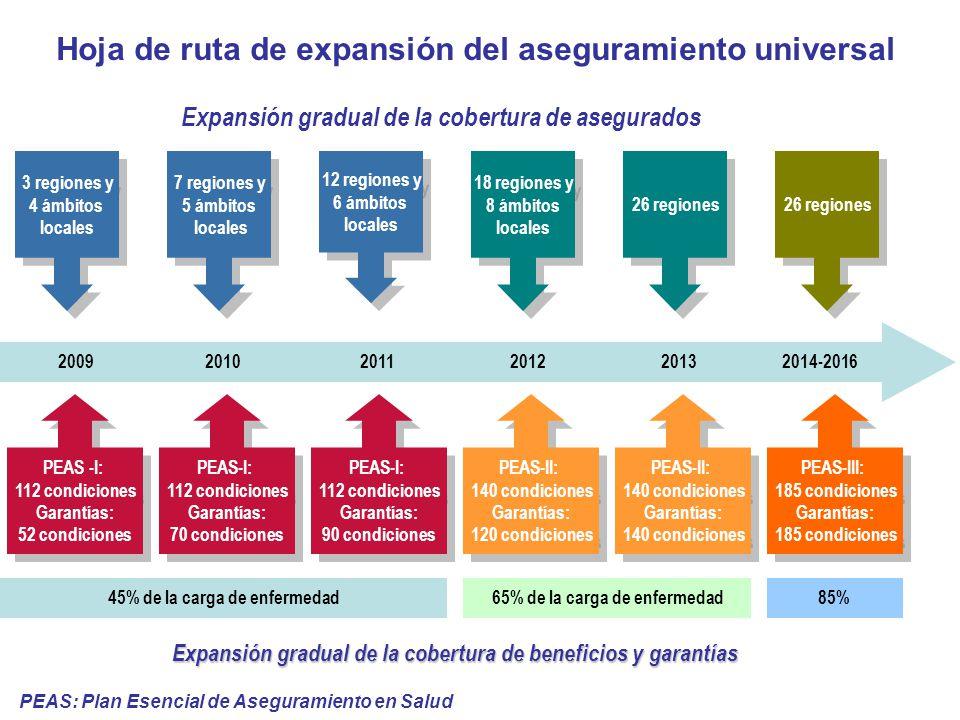 2009 2010 2011 2012 2013 2014-2016 3 regiones y 4 ámbitos locales 3 regiones y 4 ámbitos locales 7 regiones y 5 ámbitos locales 7 regiones y 5 ámbitos