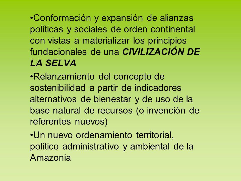 Conformación y expansión de alianzas políticas y sociales de orden continental con vistas a materializar los principios fundacionales de una CIVILIZAC