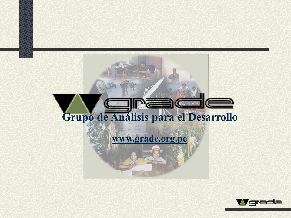 Grupo de Análisis para el Desarrollo www.grade.org.pe