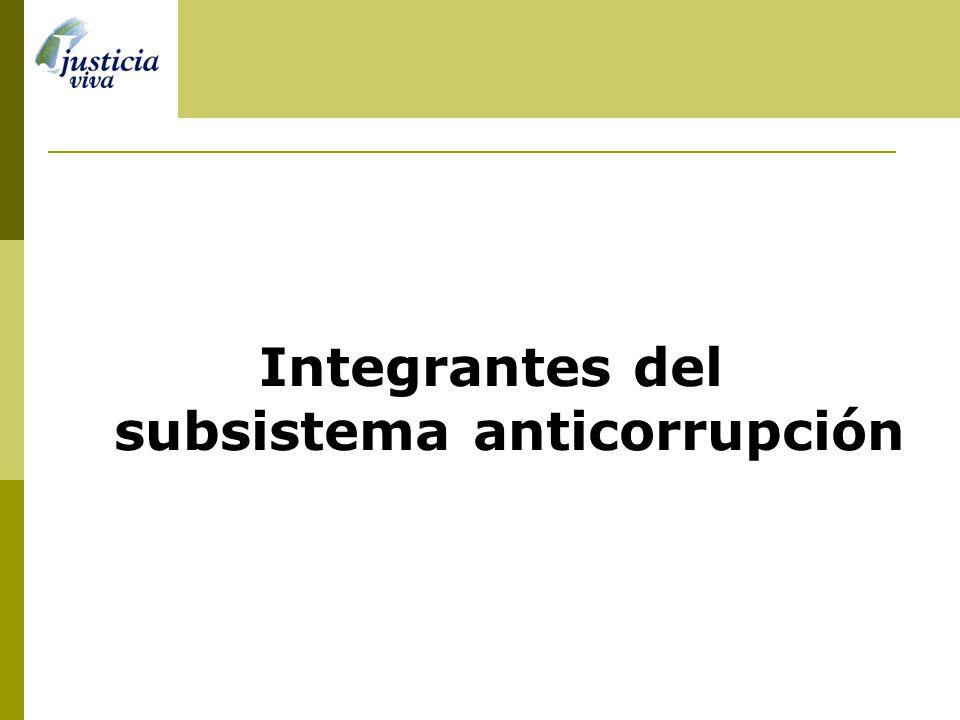 Integrantes del subsistema anticorrupción