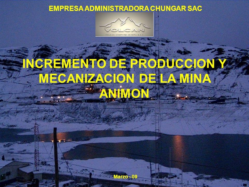 Evolución de Reservas y Recursos Minerales a Diciembre 2,008