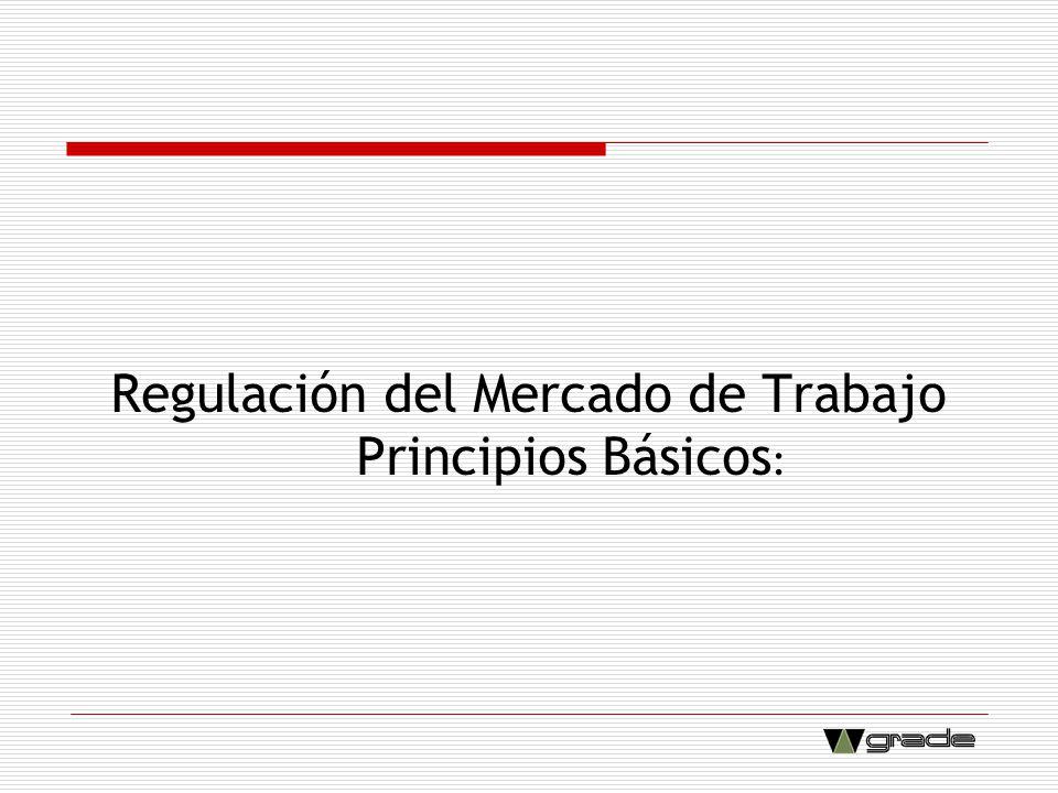 Regulación del Mercado de Trabajo Principios Básicos :