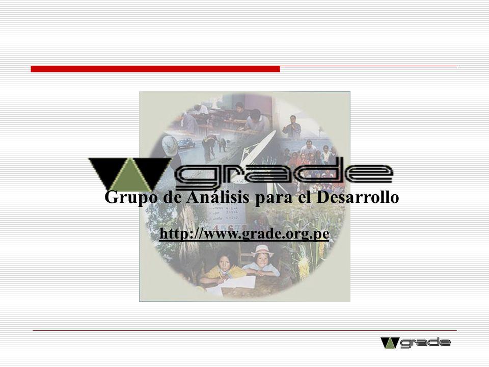 Grupo de Análisis para el Desarrollo http://www.grade.org.pe