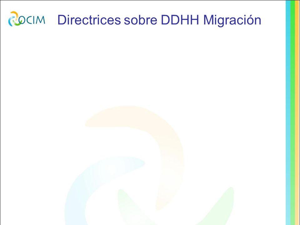Directrices sobre DDHH Migración