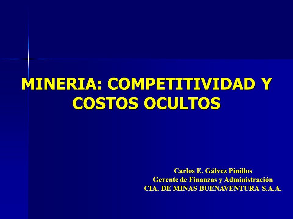 MINERIA: COMPETITIVIDAD Y COSTOS OCULTOS Carlos E.
