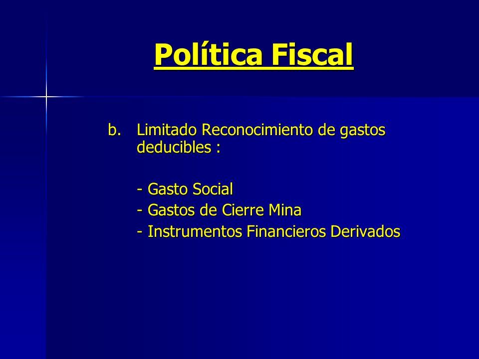 Política Fiscal b.
