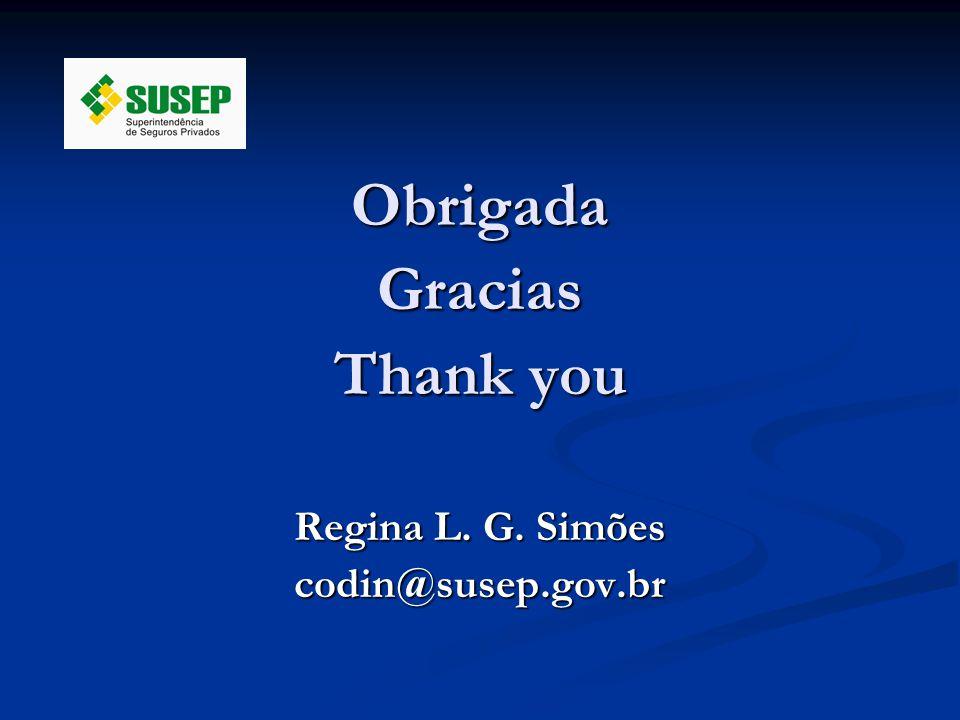 ObrigadaGracias Thank you Regina L. G. Simões codin@susep.gov.br