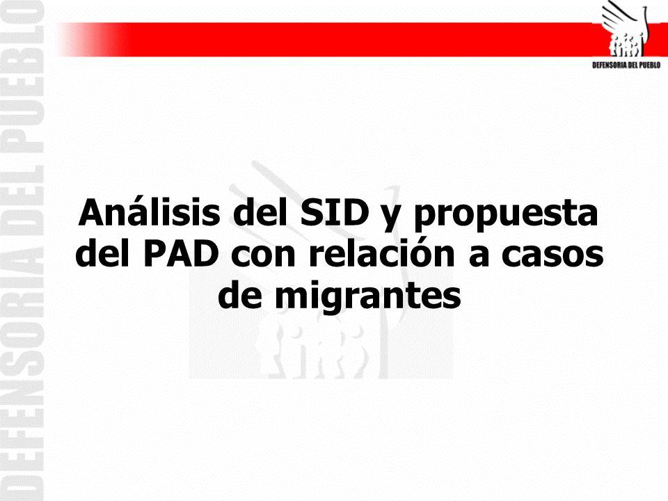 Migrantes: Grupo vulnerable Incorporado en el PAD 2008.