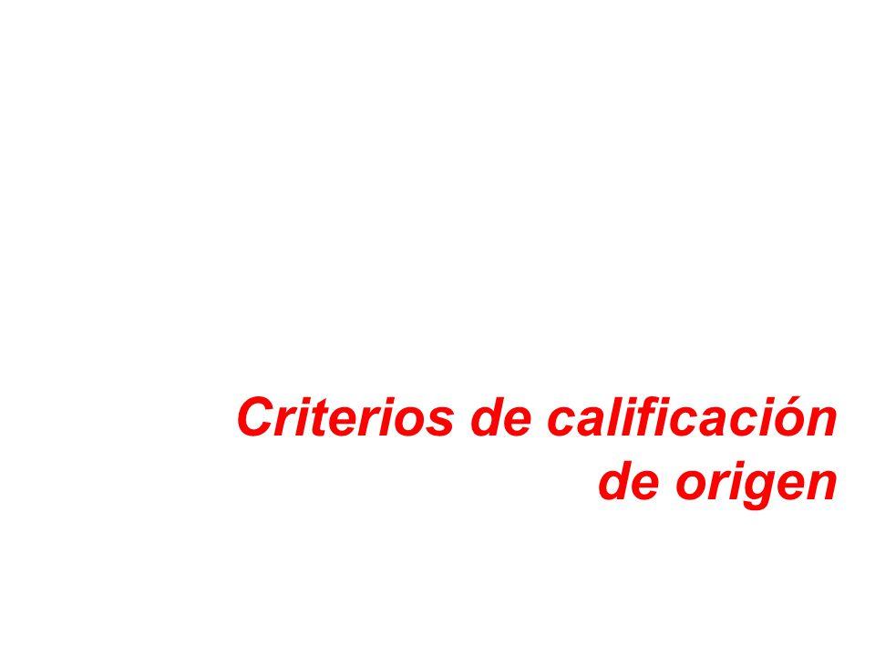 De Minimis La mercancía será considerada originaria aun cuando no todos los materiales no originarios cumplan con el cambio de clasificación requerido, si los materiales no originarios que no cumplen con el salto de clasificación correspondiente no superan el 10% del valor ajustado de la mercancía.