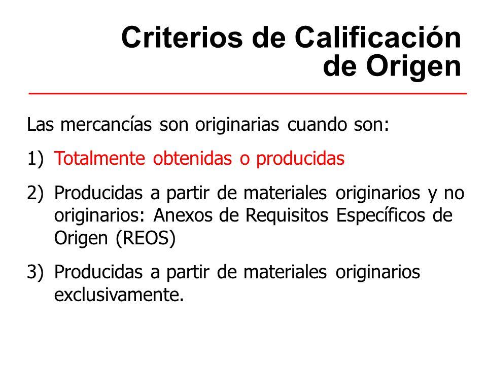 De Minimis Para los capítulos 1 a 24 se permite el uso delDe Minimis cuando el material no originario se clasifica en una subpartida(6 dígitos) distinta que la mercancía final.