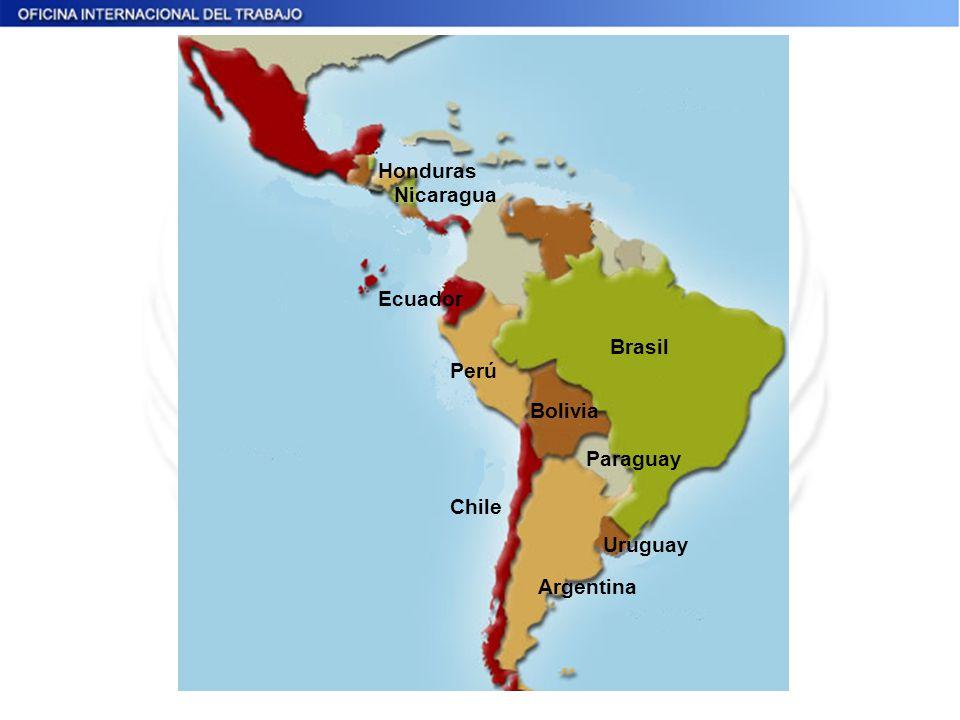 Honduras Nicaragua Perú Bolivia Argentina Paraguay Chile Ecuador Brasil Uruguay