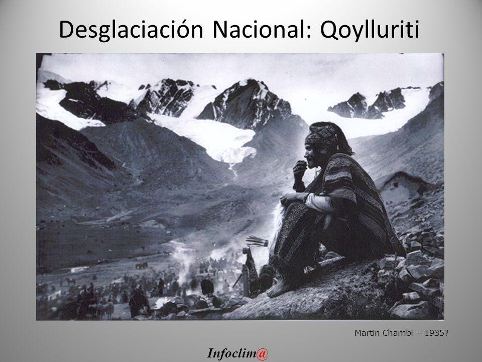 Desglaciación Nacional: Qoylluriti Martín Chambi – 1935? Infoclim@