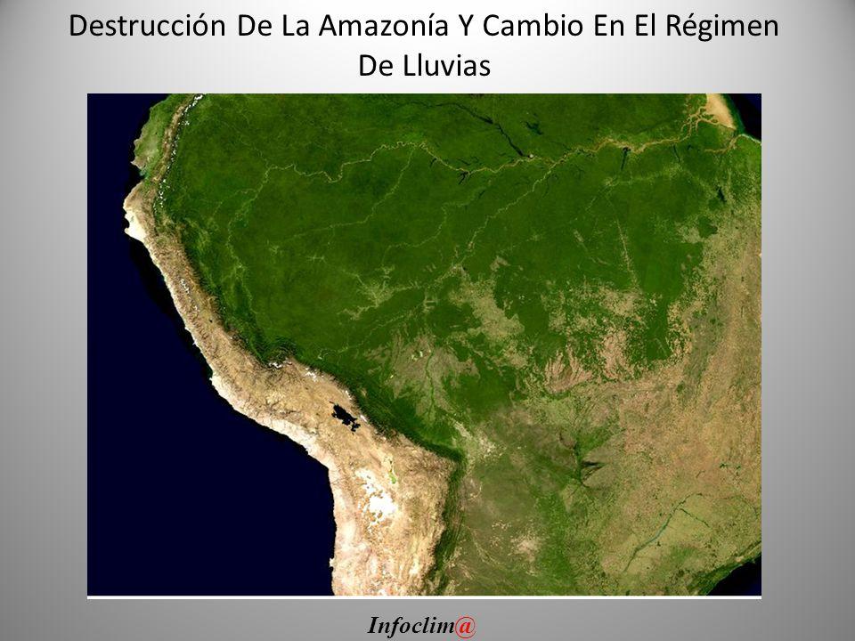 Destrucción De La Amazonía Y Cambio En El Régimen De Lluvias Infoclim@