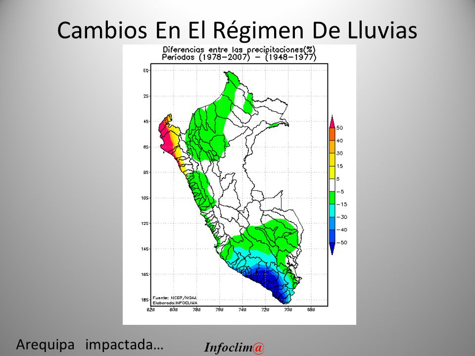 Cambios En El Régimen De Lluvias Arequipa impactada… Infoclim@
